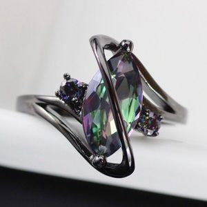 Mystic Marquise Cut Rainbow Topaz Ring